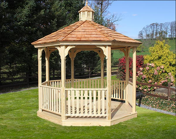12' Treated Pine Octagon Garden Gazebo