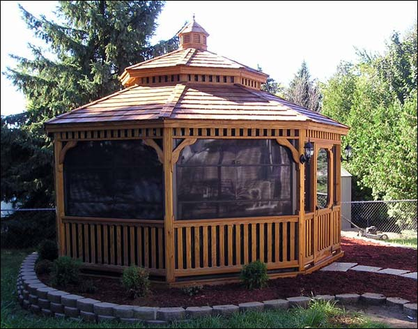 Treated Pine Double Roof Octagon Gazebos