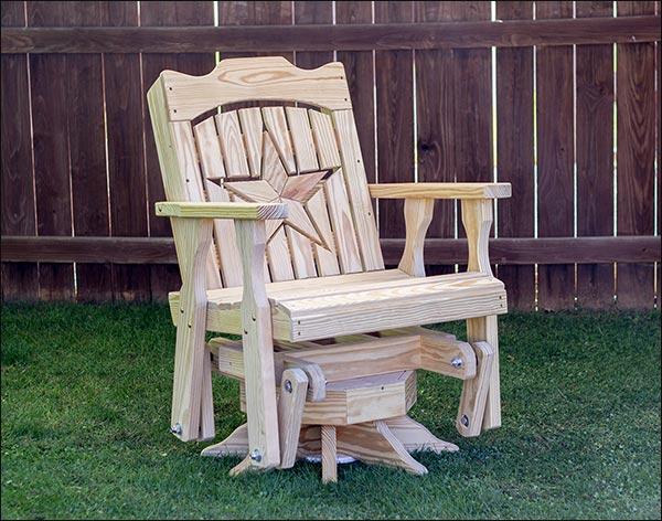 Treated Pine Starback Swivel Glider Chair
