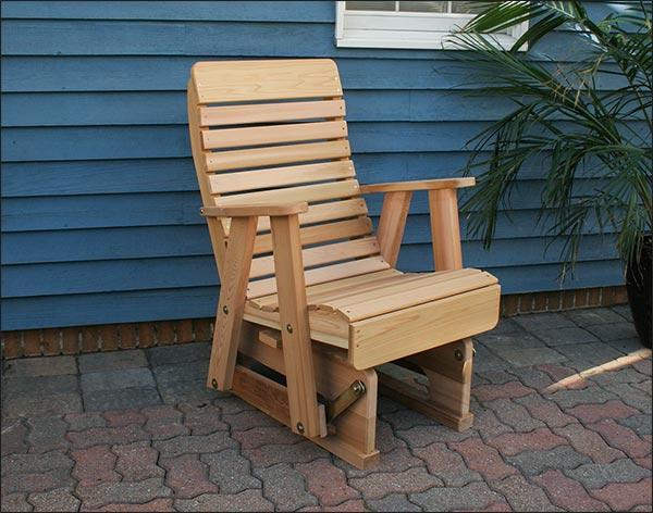 Red Cedar Royal Highback Glider Chair