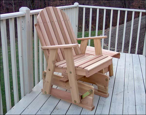 Red Cedar Blue Mountain Fanback Glider Chair