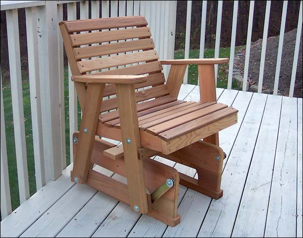 Red Cedar American Classic Glider Chair