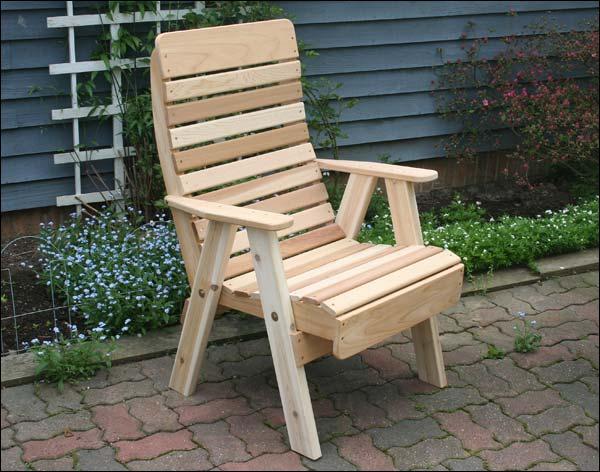 Red Cedar Royal Highback Patio Chair