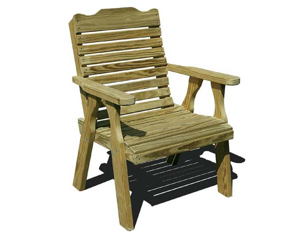 Treated Pine Crossback Patio Chair