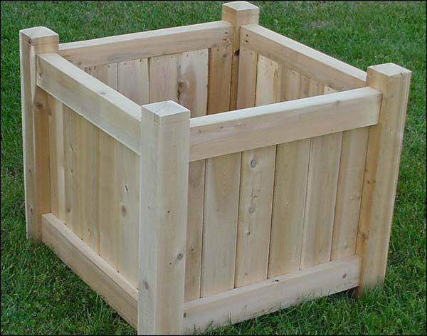 "24"" White Cedar Planter - Set of 2"