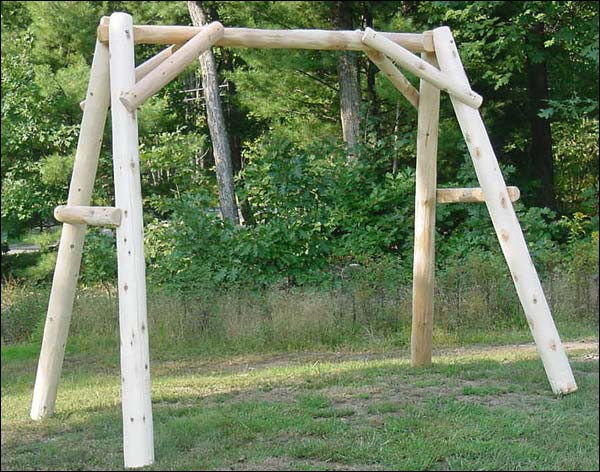 4' White Cedar Unstained Swing Frame