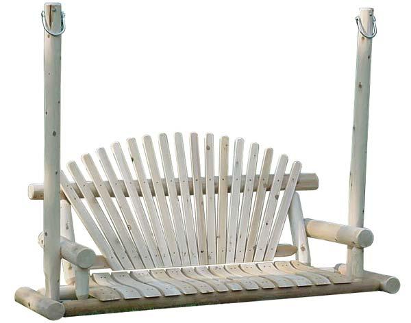 4' White Cedar Unstained Love Seat Swing