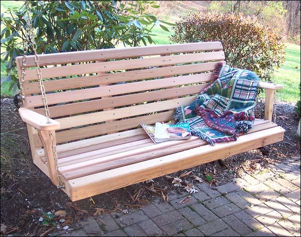4 Foot Red Cedar American Classic Porch Swing