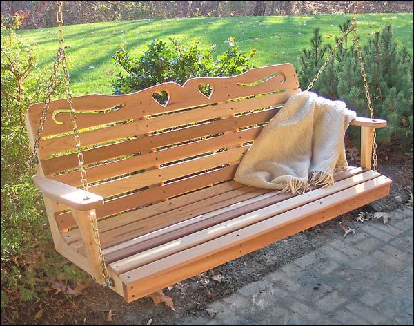4 Foot Red Cedar American Sweetheart Porch Swing