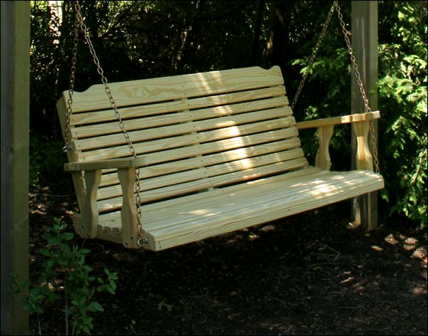 """53"""" Treated Pine Crossback Porch Swing"""