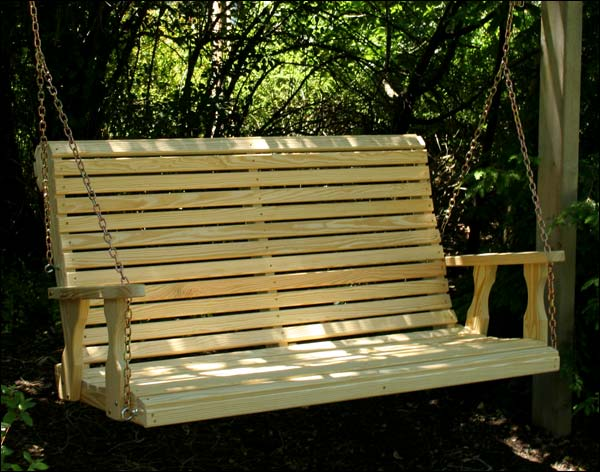 """53"""" Treated Pine Rollback Porch Swing"""