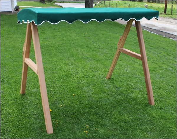 4'/5' Red Cedar Swing Stand w/ Sunbrella Canopy