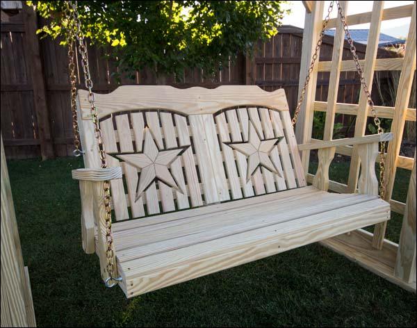 "53"" Treated Pine Starback Porch Swing"