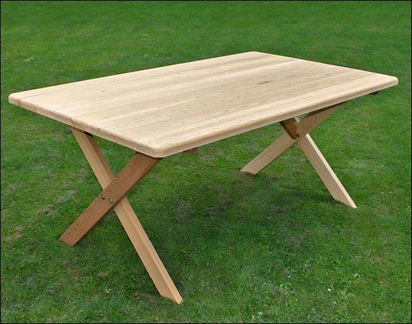 "46"" x 42"" Red Cedar Cross Legged Picnic Table"