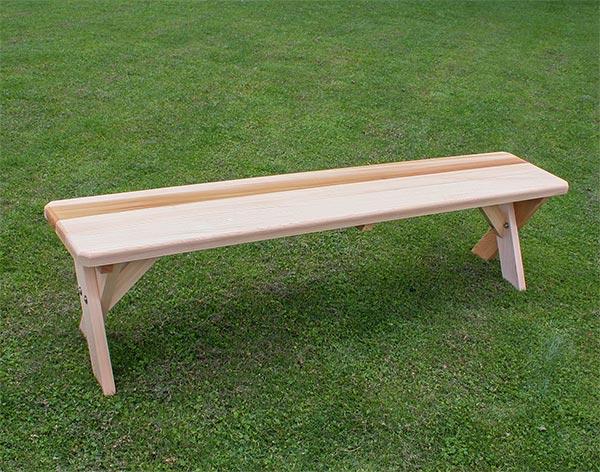 4' Red Cedar Cross Legged Bench