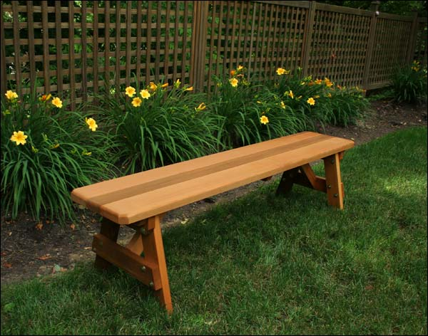 4' Red Cedar Bench with Stain