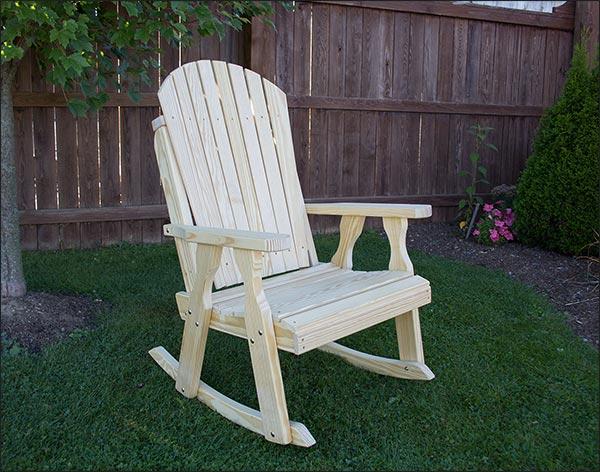 Treated Pine Curveback Rocking Chair