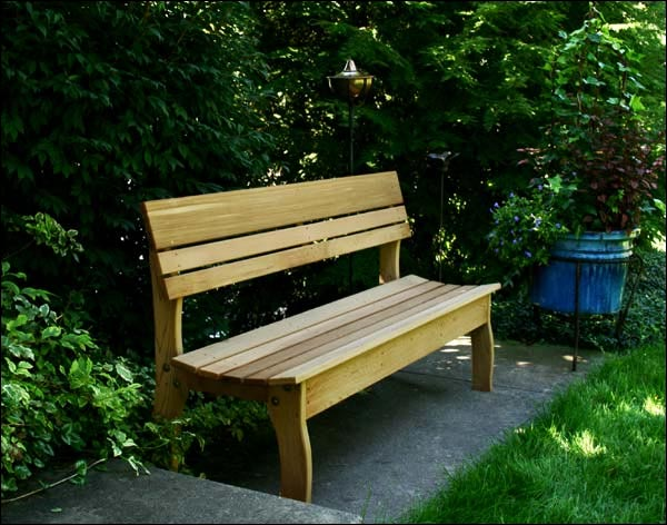 """46"""" Red Cedar Contoured Backed Bench"""