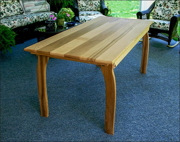 "46""L x 32""W Red Cedar Contoured Picnic Table"