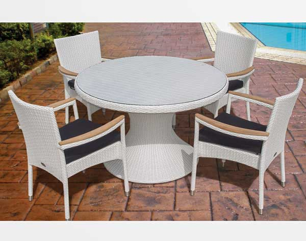 48quot White Wicker Dining Table and Wicker Stacking Chair Set : 48 Wicker White Dining Table and Stacking Chair Set A from www.fifthroom.com size 600 x 472 jpeg 38kB