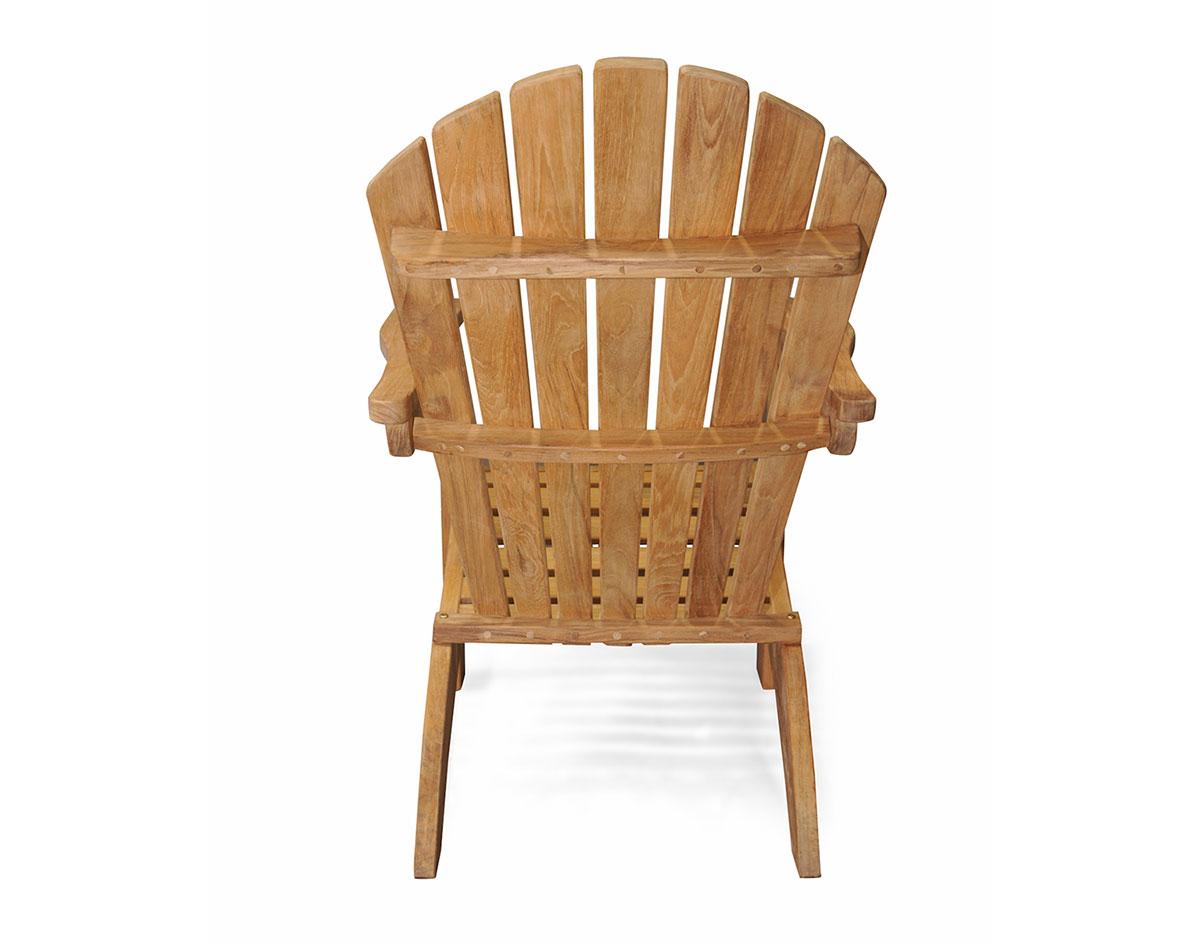 Teak Adirondack Chair Amp Footstool Set