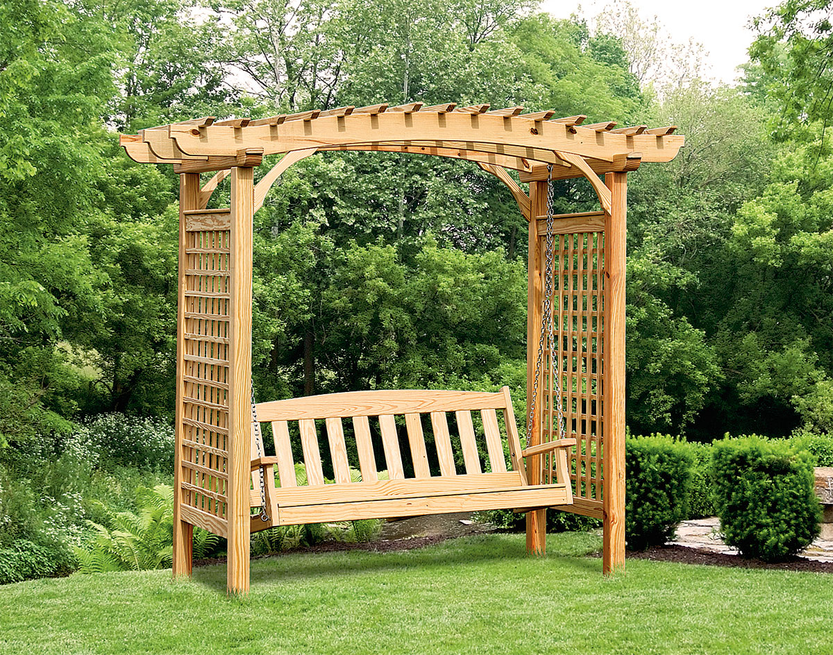 treated pine greenfield arbor and swing set. Black Bedroom Furniture Sets. Home Design Ideas