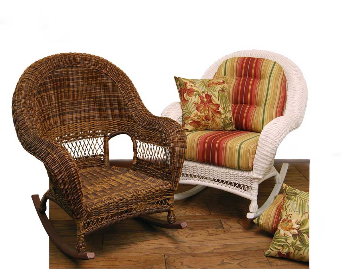 Wicker Domain Deep Seat Rocking Chair W Cushions