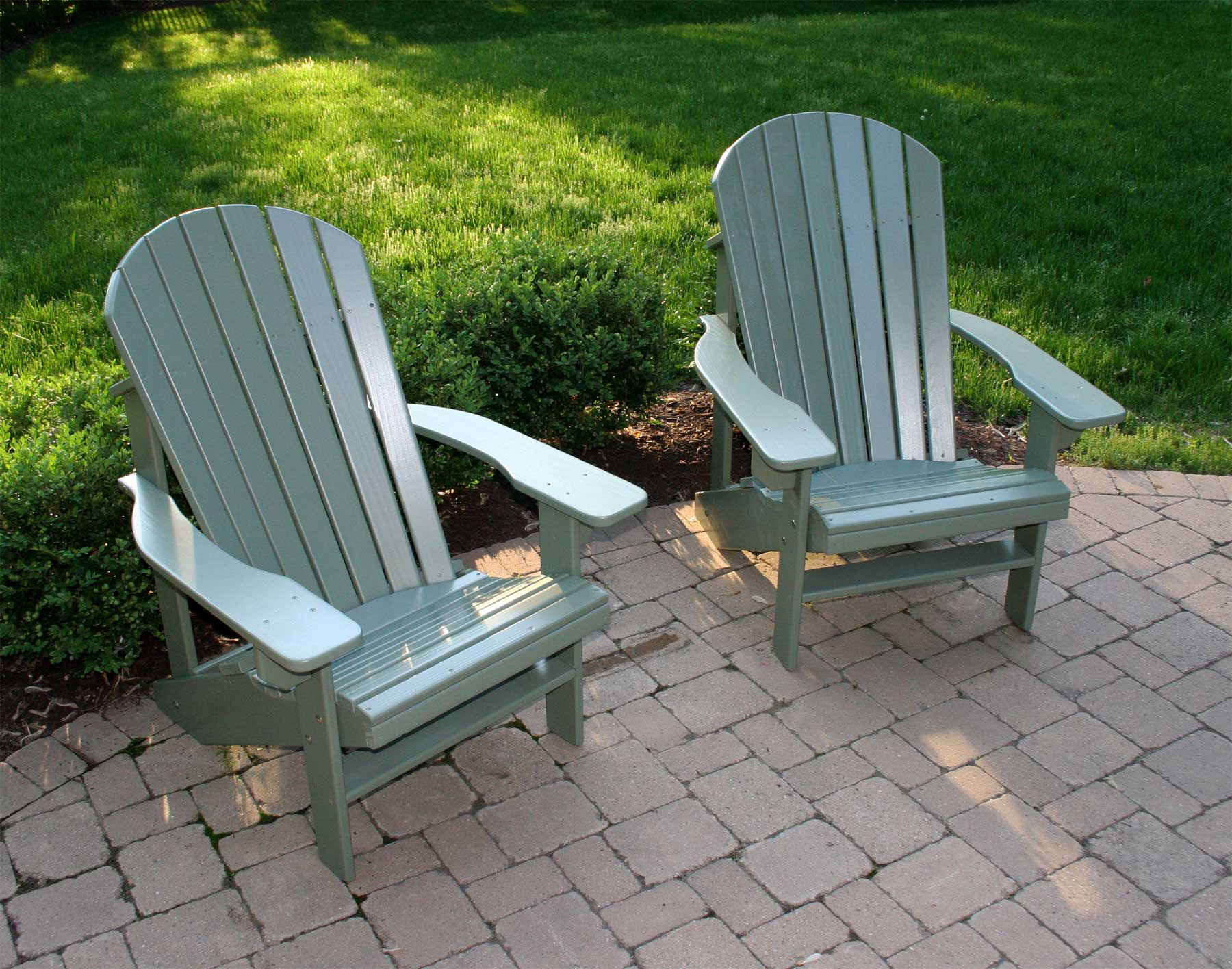 Colorful adirondack chairs - Sage Green Adirondack Chairs Shown Sold Separately