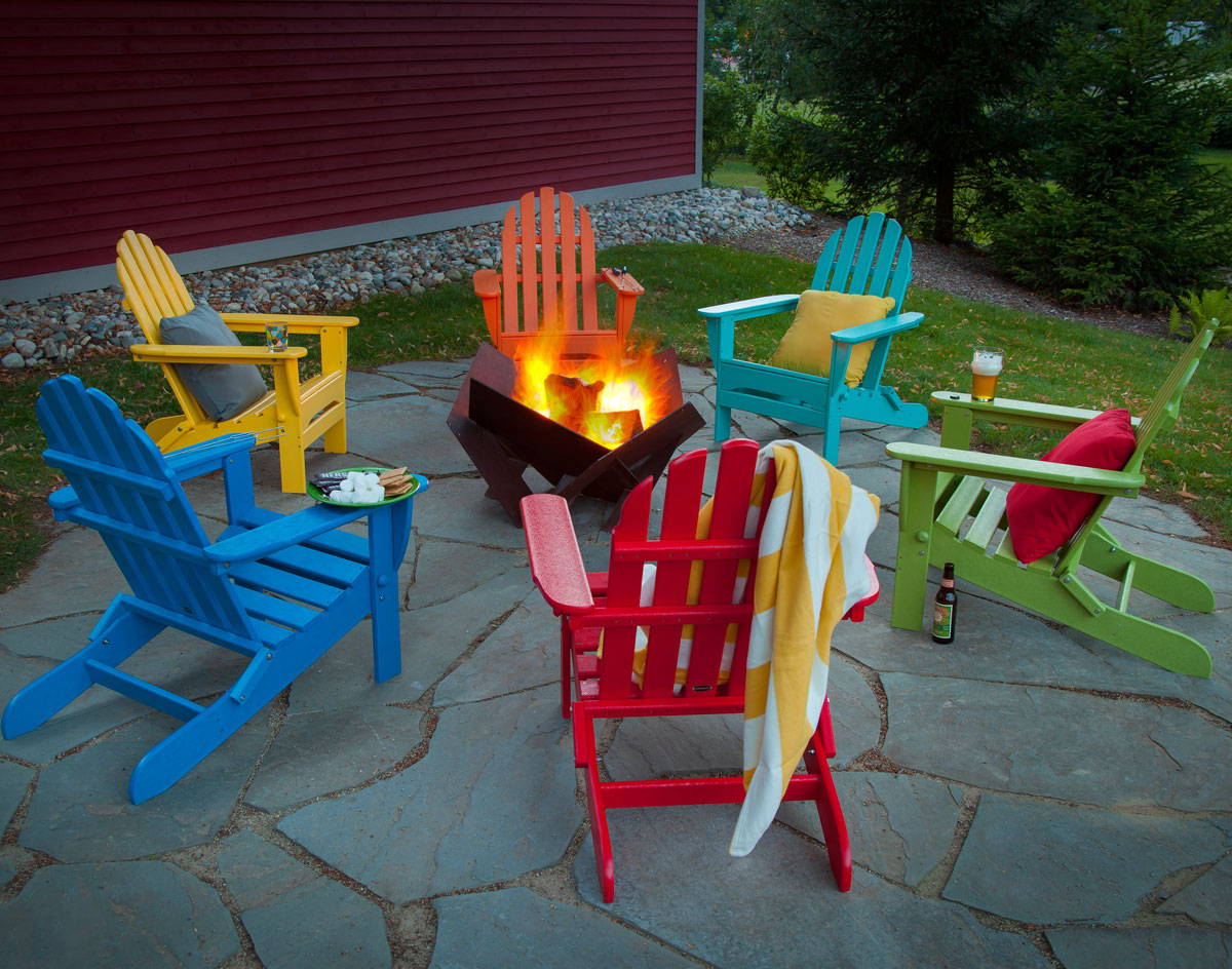 Colorful adirondack chairs - Adirondack Chairs Shown In Multiple Colors Chairs Sold Separately