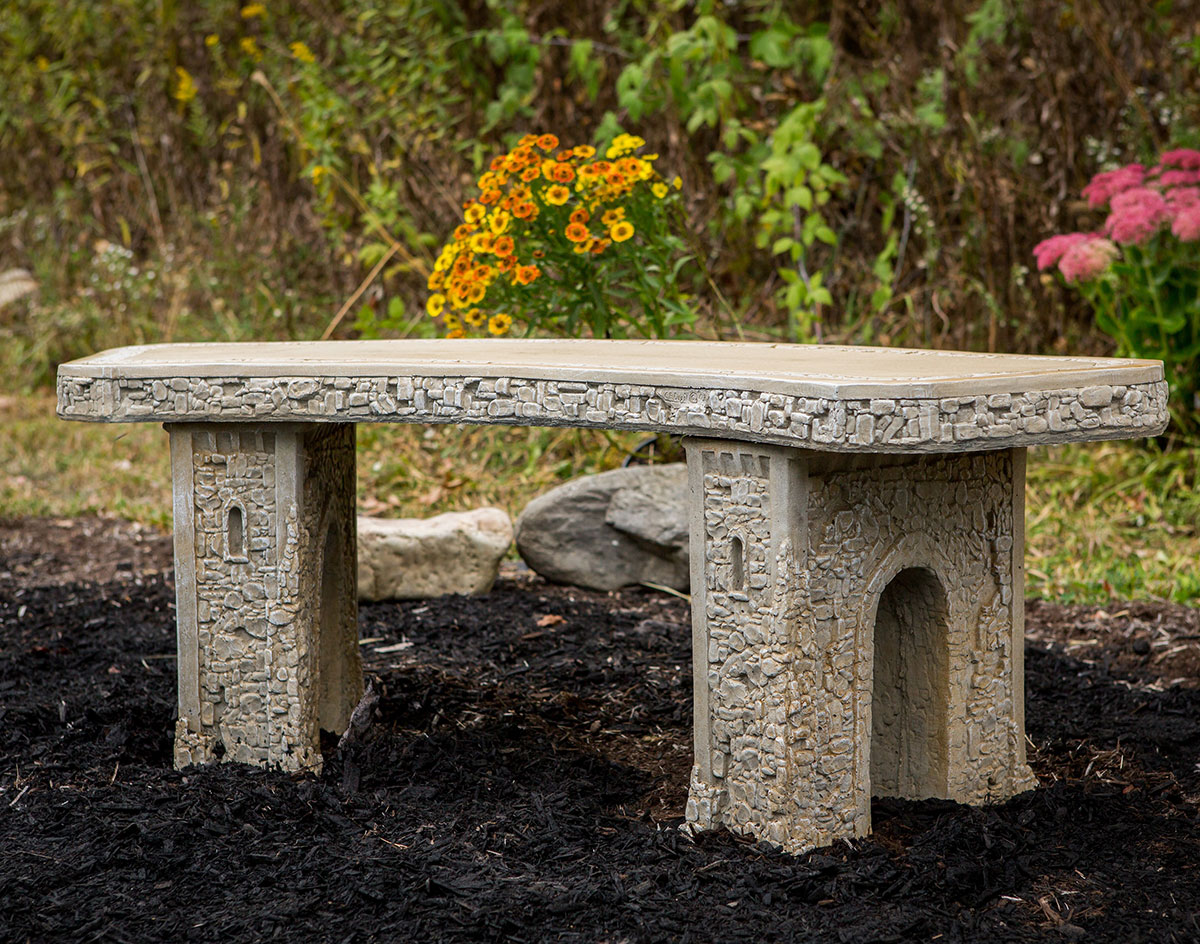 Picture of: 48 Concrete Curved Garden Bench