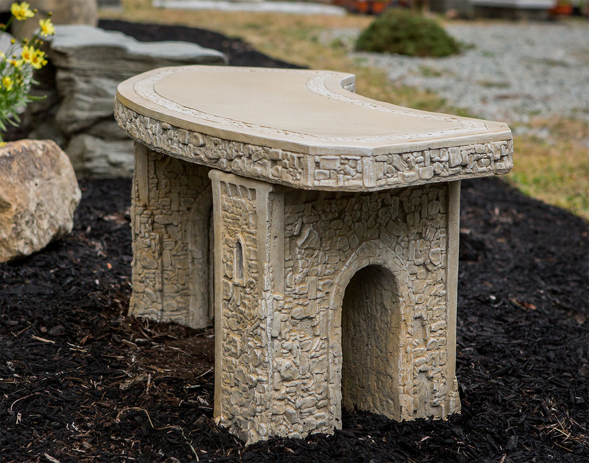 48 Quot Concrete Curved Garden Bench