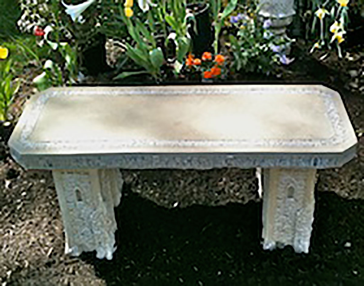 40 Concrete Garden Bench