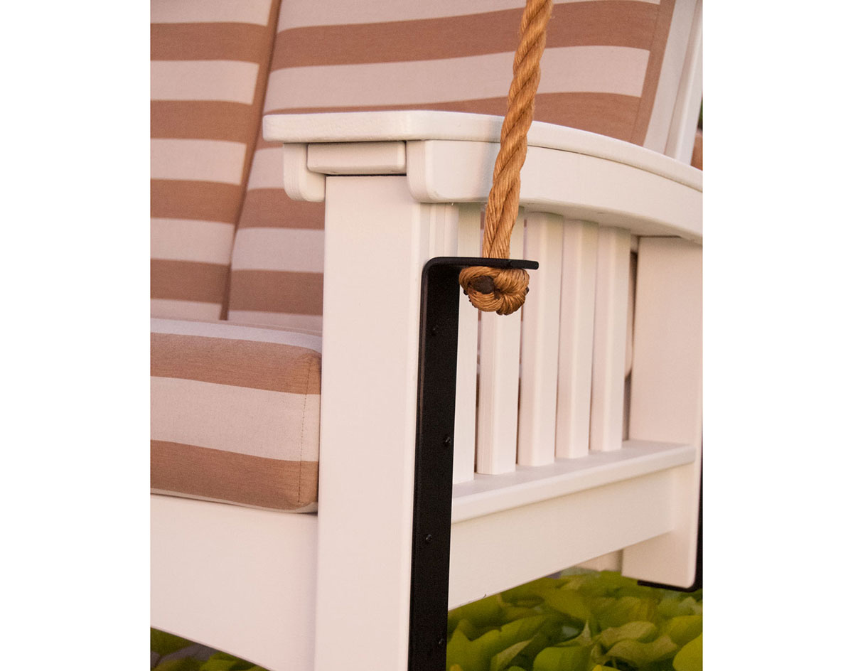 Cypress Mission Lounge Rope Swingbed w/ Sunbrella Cushions