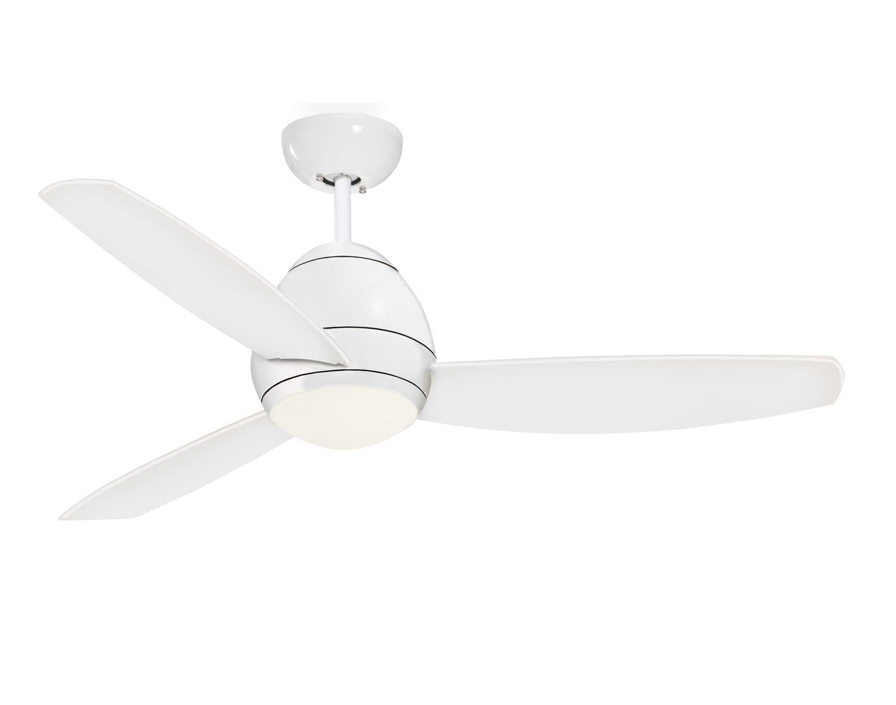 Appliance White Avruc Outdoor Ceiling Fan w Light