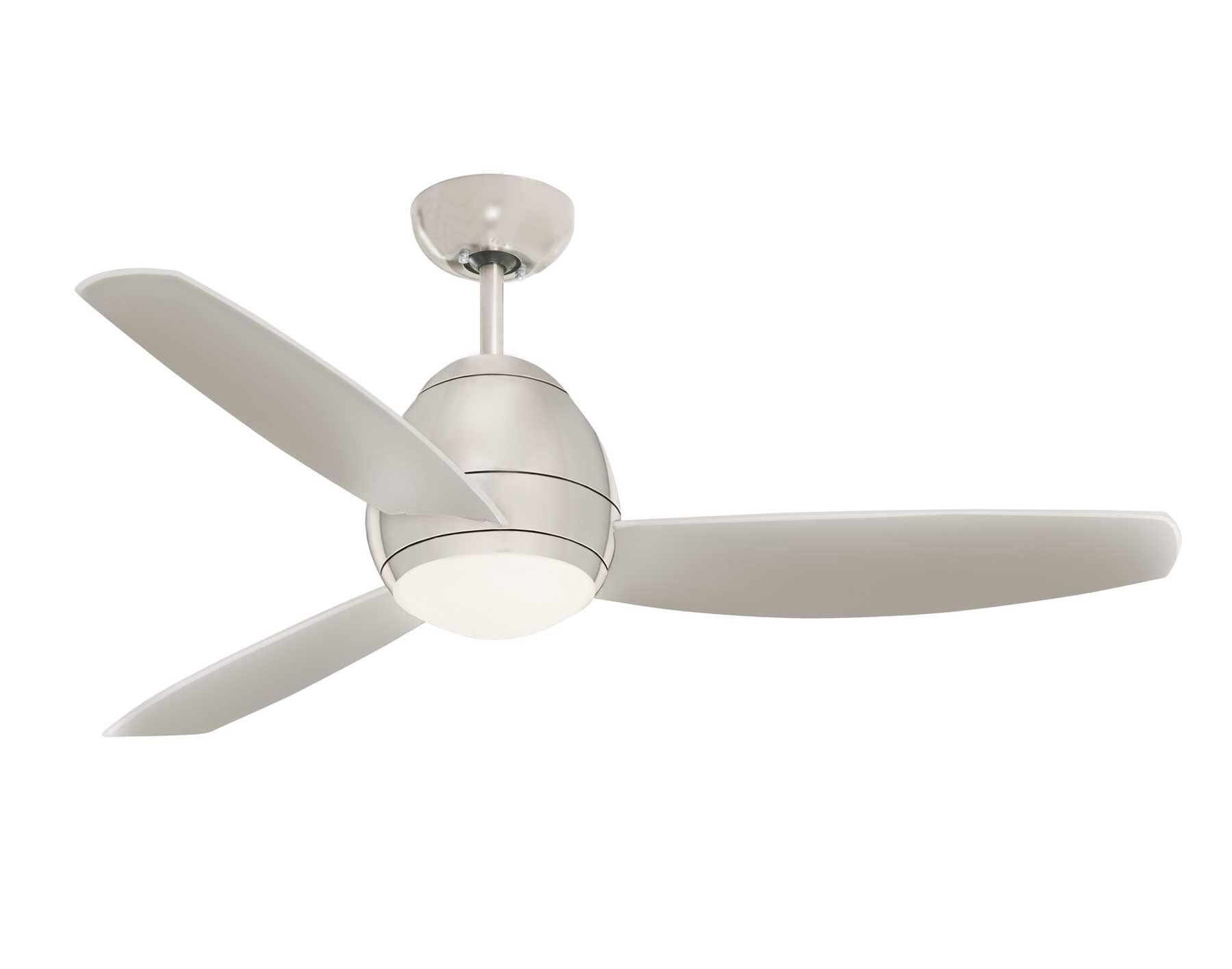 brushed steel avruc outdoor ceiling fan w light. Black Bedroom Furniture Sets. Home Design Ideas