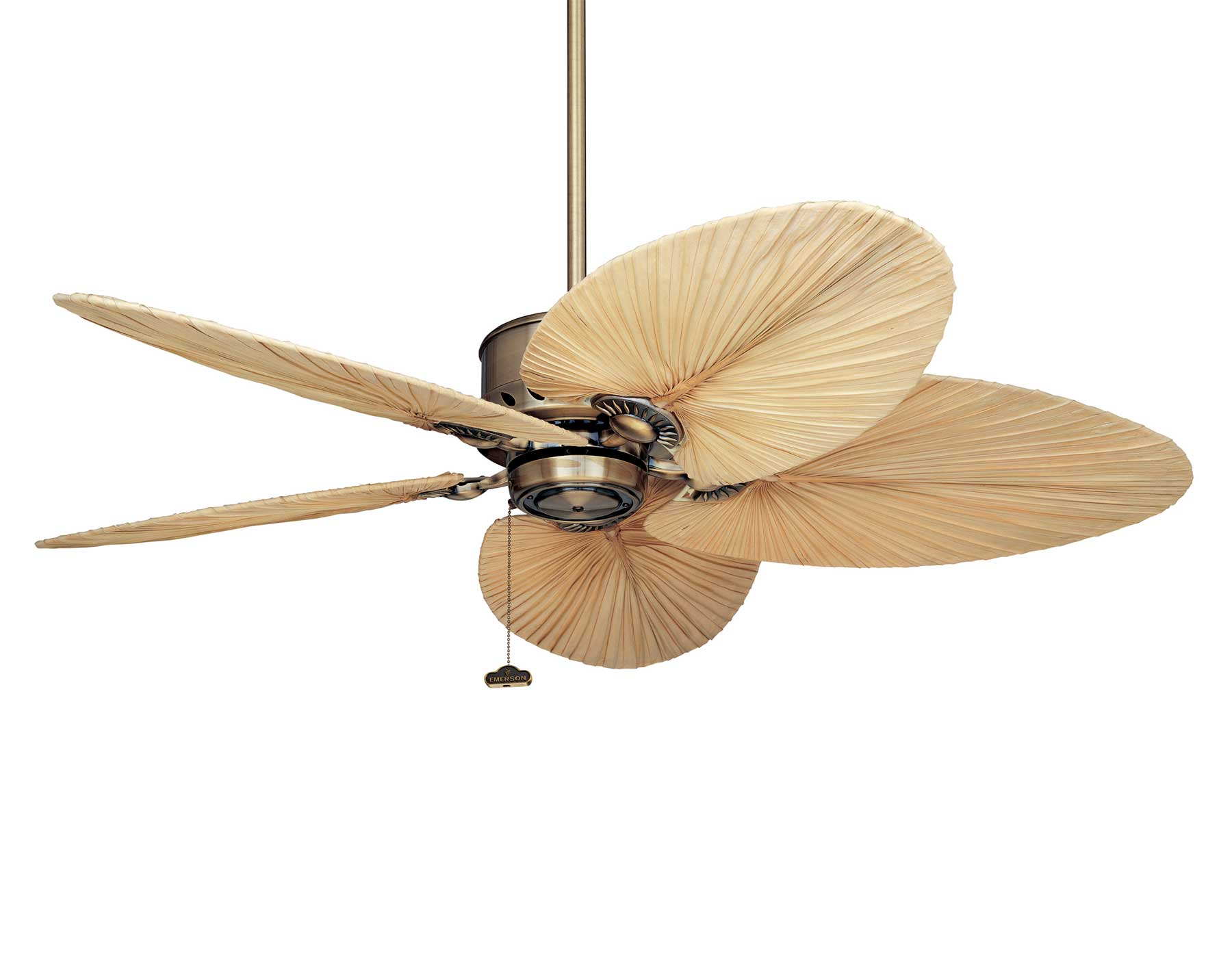 52 quot antique brass maubay indoor ceiling fan w tropical