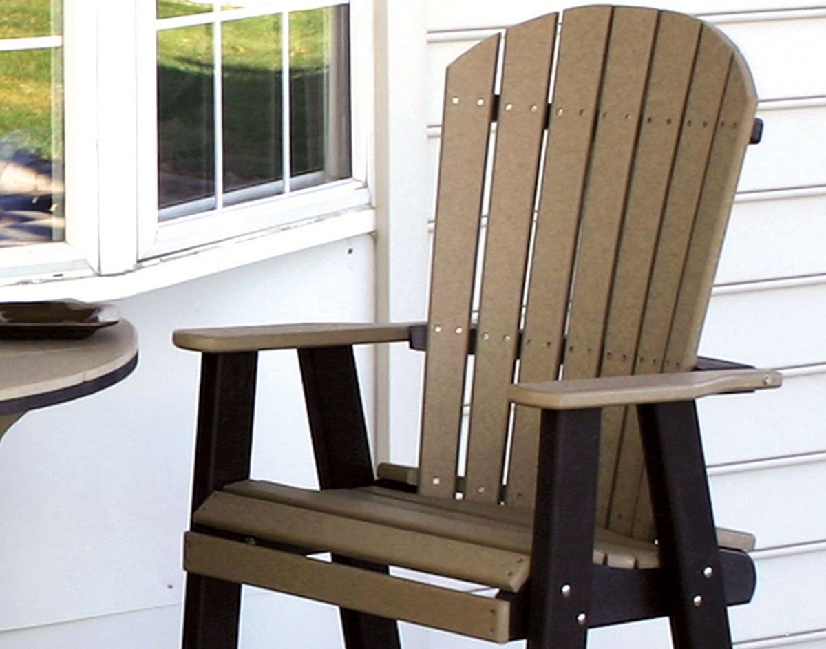 Poly Lumber Half Round Table W 2 Balcony Chairs