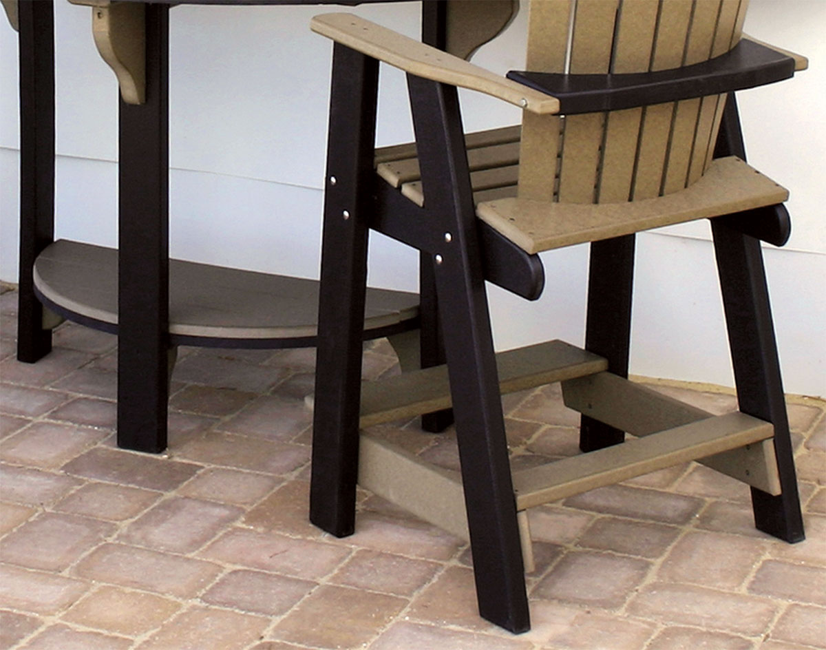 poly lumber half round table w 2 balcony chairs half round b