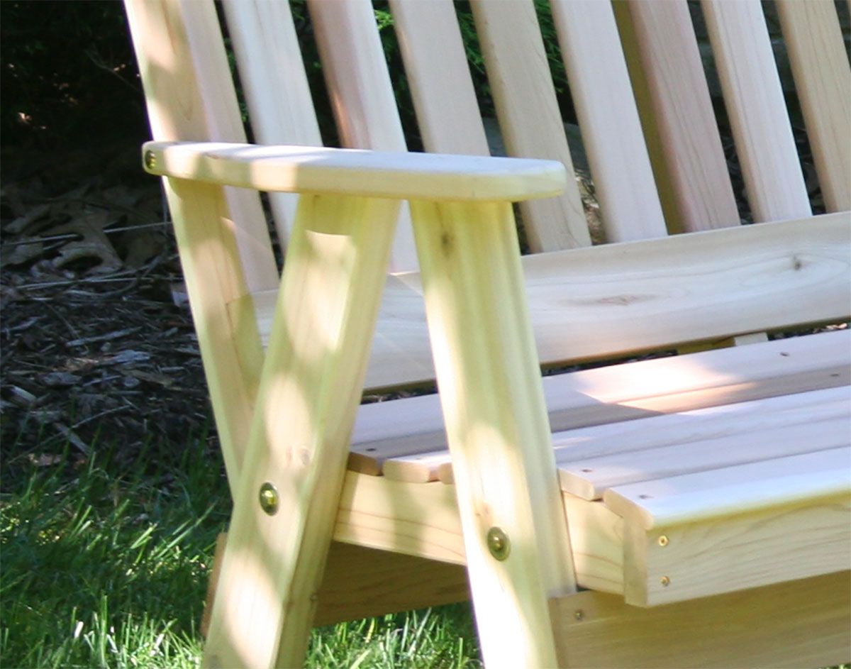 Red Cedar Southern English Garden Bench