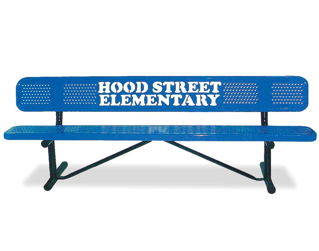 Personalized Perforated Metal Standard Garden Bench