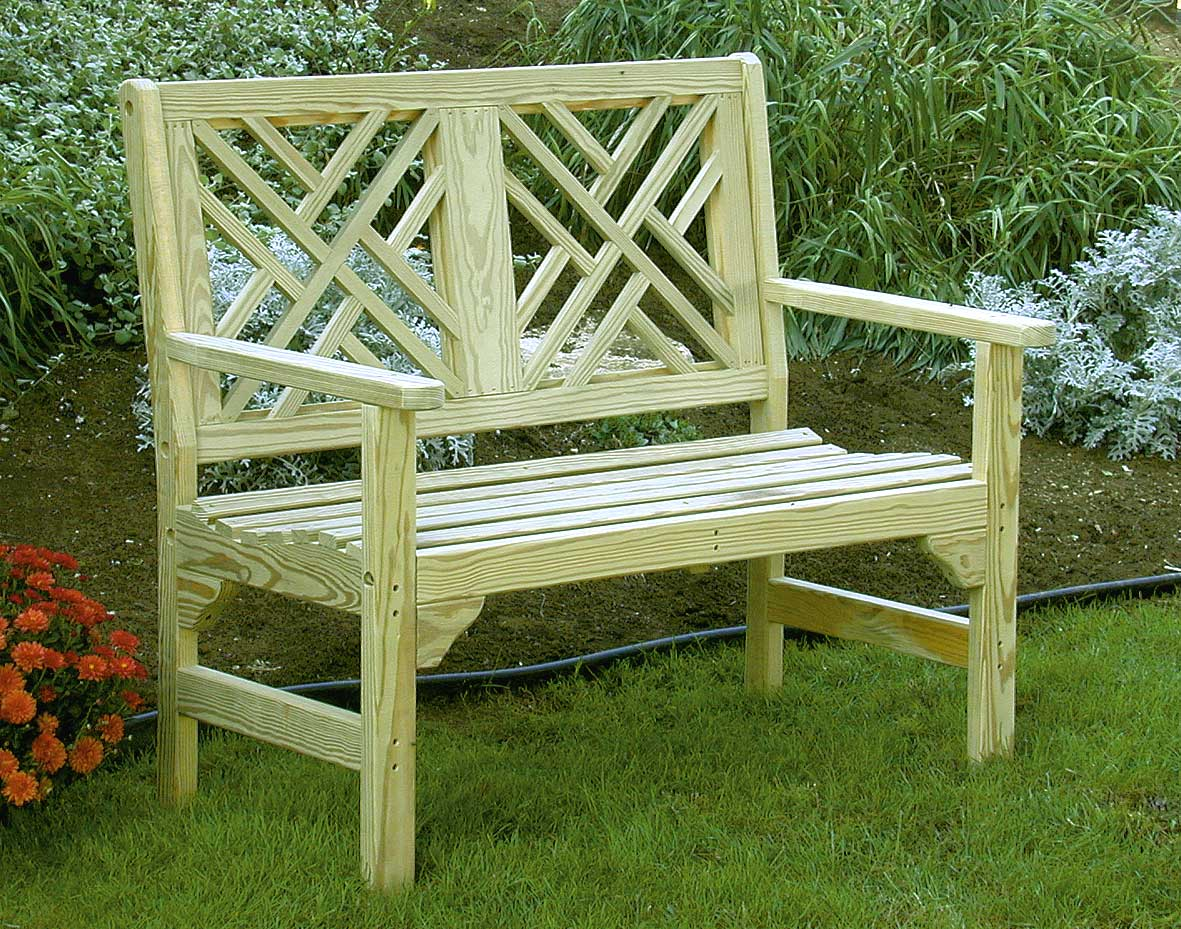 46 Quot Treated Pine Chippendale Garden Bench