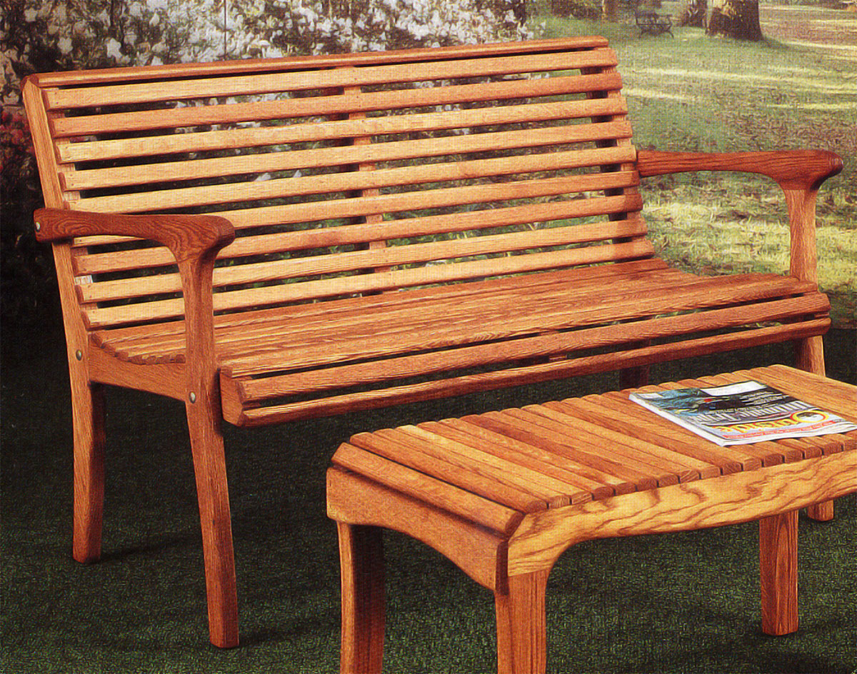 "48"" Oak Garden Bench"