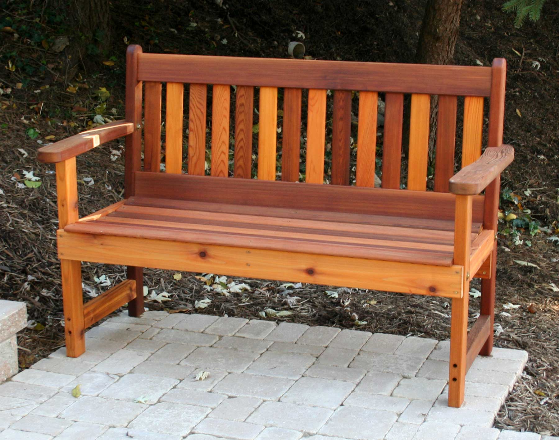 Fabulous Red Cedar English Garden Bench Bralicious Painted Fabric Chair Ideas Braliciousco