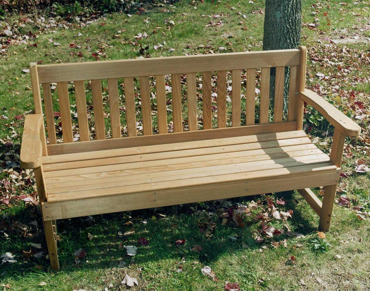 Red Cedar English Garden Bench