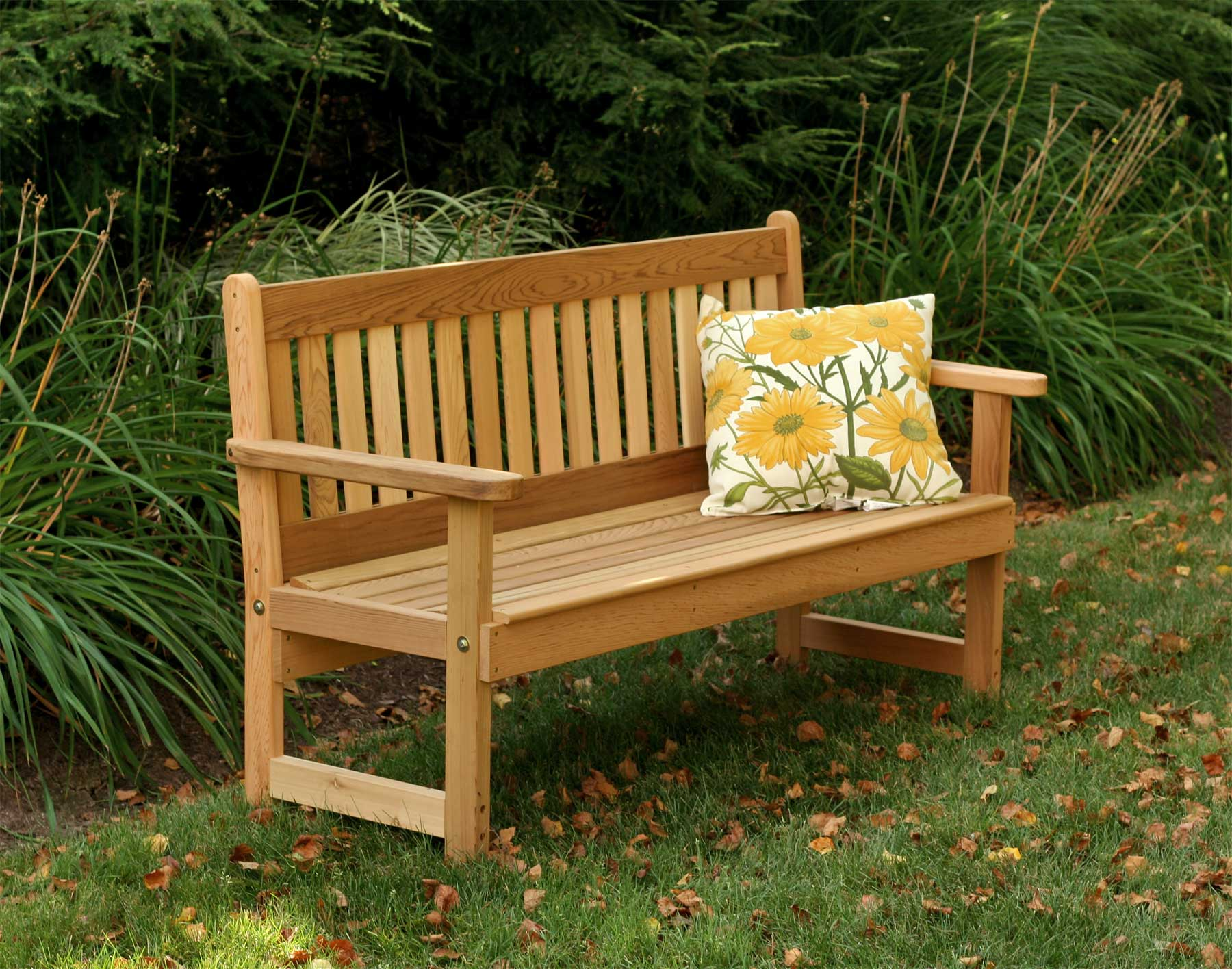Sensational Red Cedar English Garden Bench Bralicious Painted Fabric Chair Ideas Braliciousco