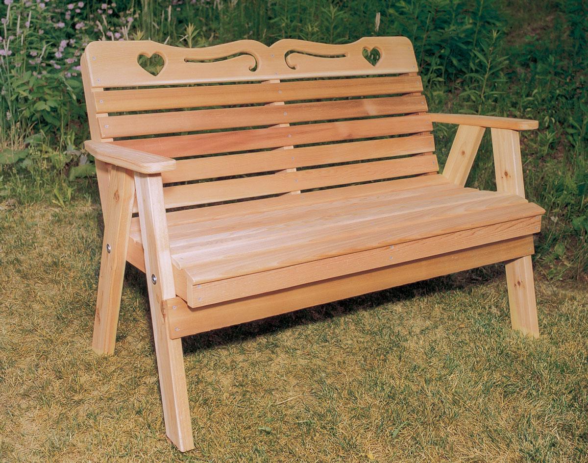 Red Cedar American Sweetheart Garden Bench