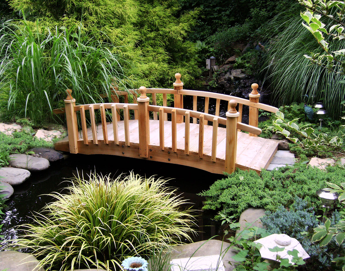 garden footbridge cedar limerick picket rail bridge 4322