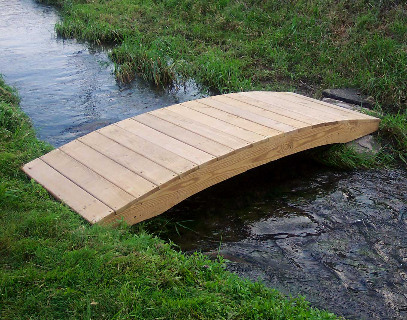Treated Pine Fiore Plank Garden Bridge - Garden bridges