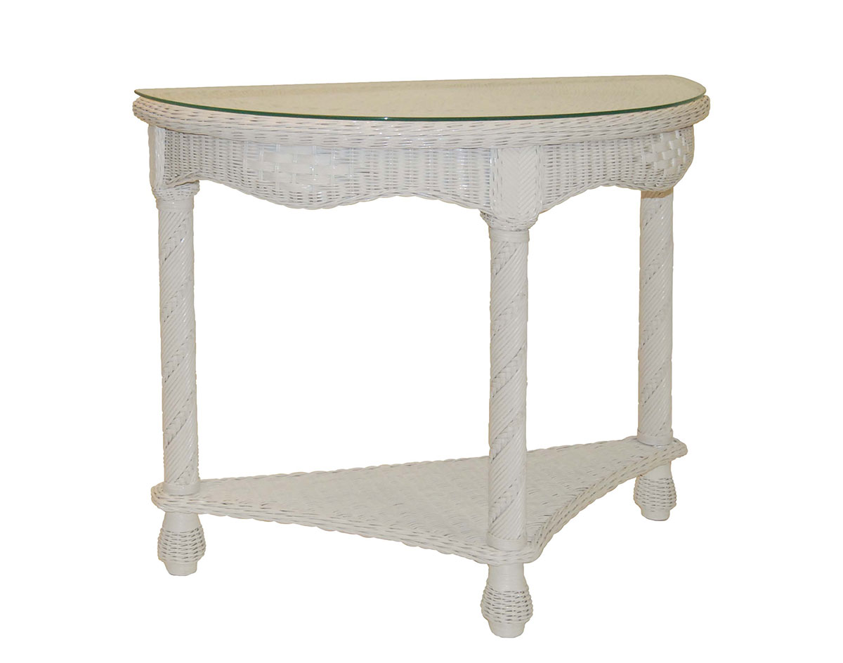 Half round wicker rta console table geotapseo Images