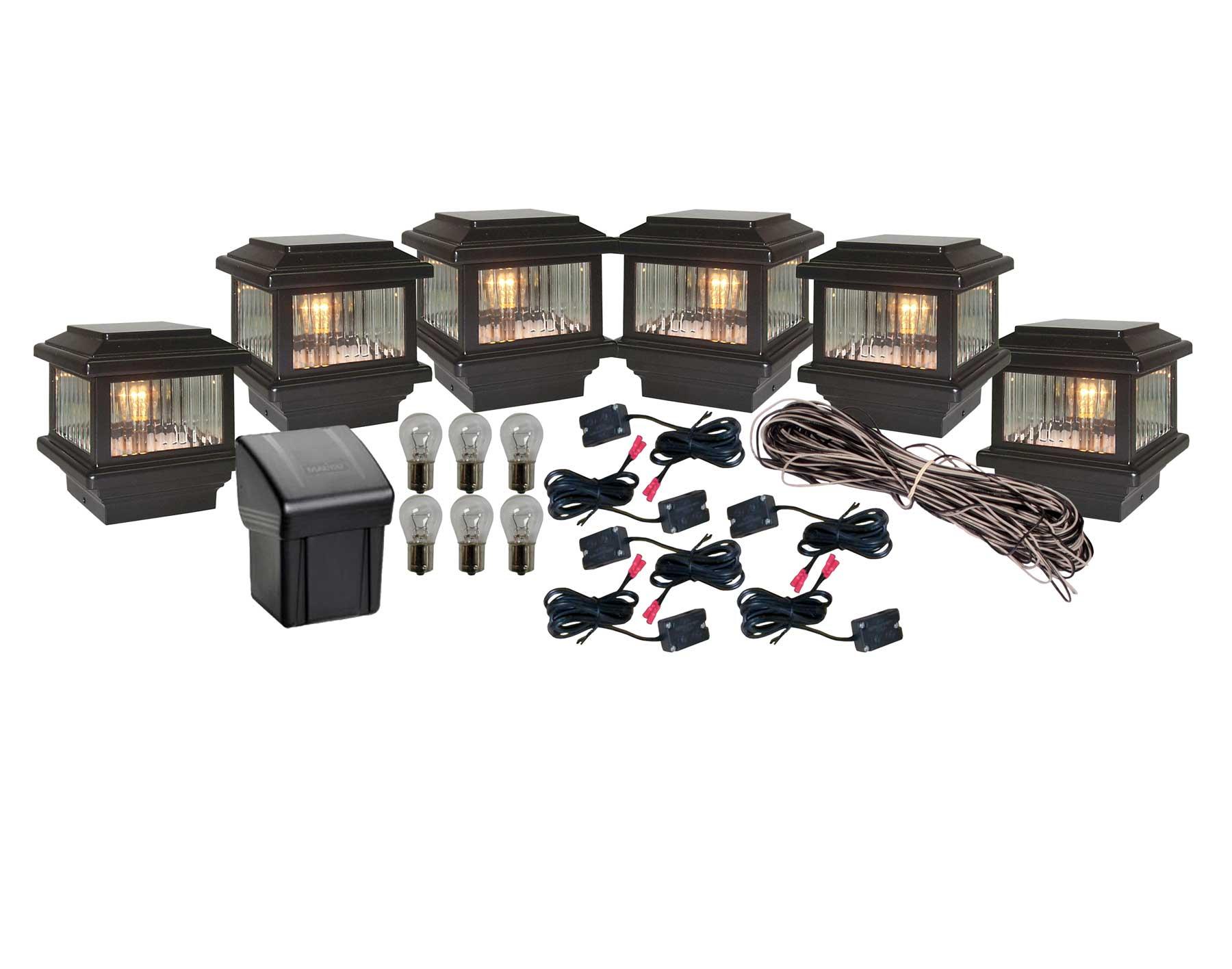 Titan 6 post cap led light installation kit mozeypictures Choice Image